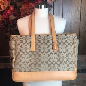Coach Signature Diaper Bag